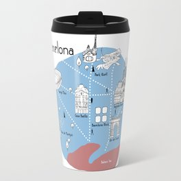 Mapping Barcelona - Original Travel Mug