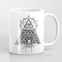 pyramid Mugs featuring Pyramid by alesaenzart