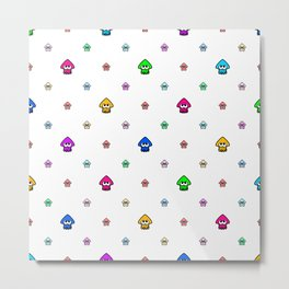 Inkling Pattern Color Metal Print