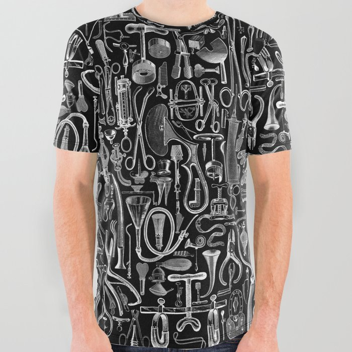 Medical Condition BLACK All Over Graphic Tee