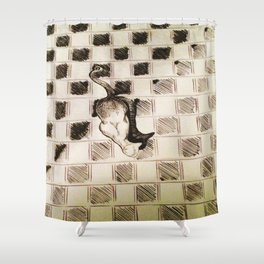 Kitteh Shower Curtain