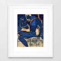 muscle Framed Art Prints featuring Muscle. by Azure Cricket