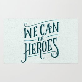 We Can Be Heroes Rug