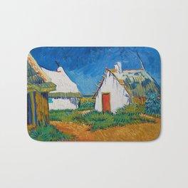 Three white cottages in Saintes-Maries by Vincent van Gogh Bath Mat