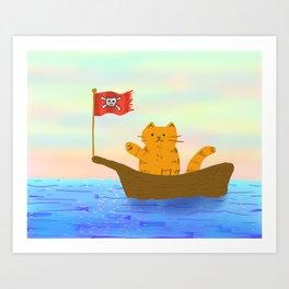 Captain Marmalade Art Print