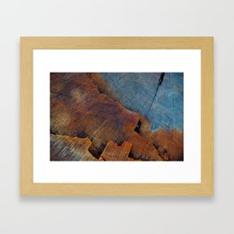 Colored Wood Framed Art Print