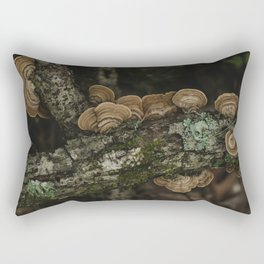 Thoughtful and Deep - Mushrooms in Forest I Rectangular Pillow