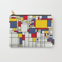 World Map Abstract Mondrian Style Carry-All Pouch