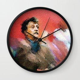 Kurt Vonnegut of Tralfamadore Wall Clock