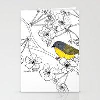nashville Stationery Cards featuring Nashville Warbler by Art by Peleegirl