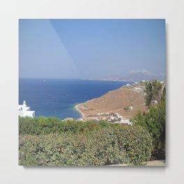 Myconos Island, Greece Metal Print
