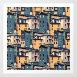 Night Castles (Pattern) Art Print