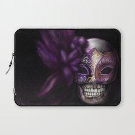Mardi Gras mask Skull Laptop Sleeve