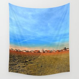 Horizon, clouds, sky and sunset | landscape photography Wall Tapestry