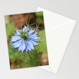 Light Blue Nigella damascena Flower Stationery Cards