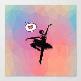 Ballerina Love Canvas Print