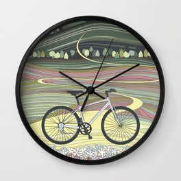 Bicycle Illustration Wall Clock