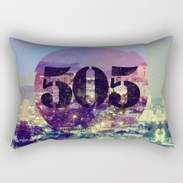 "Albuquerque – ""The 505"" Rectangular Pillow"
