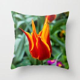 Love Wall Flower Throw Pillow