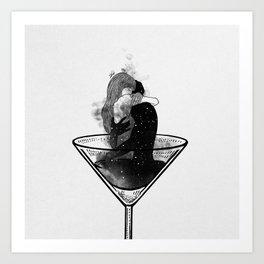 Martini night. Art Print