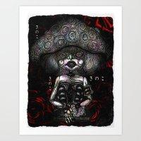 mushroom Art Prints featuring Mushroom by AKIKO