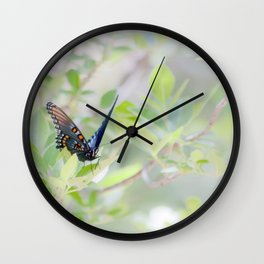 """Swallowtail Splendor"" Butterfly Art by Murray Bolesta Wall Clock"
