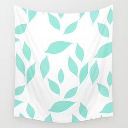 Autumn Leaves Pattern #2 #Mint #foliage #decor #art #society6 Wall Tapestry