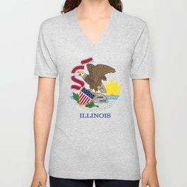 Illinois State flag Unisex V-Neck