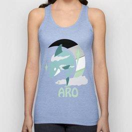 Aro Pride Sky Shark  Unisex Tank Top