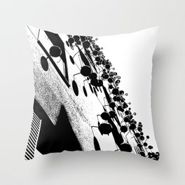 Barna Love B&W Throw Pillow