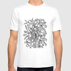 Electro Love White MEDIUM Mens Fitted Tee
