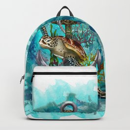 Turtle and Sea Backpack