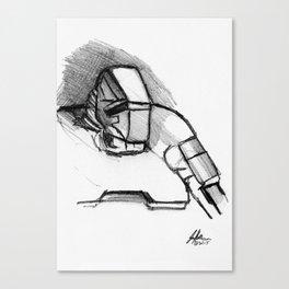 Warbot Sketch #060 Canvas Print