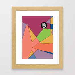 abstract colors and gray scale eye Framed Art Print