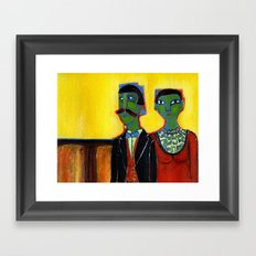 distinguished guests Framed Art Print