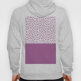 Triangles Purple Hoody