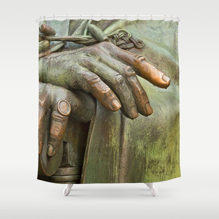 Hands of Wisdom Shower Curtain