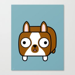 Boston Terrier Loaf - Red Brown Boston Dog Canvas Print