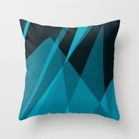 heisenberg Throw Pillows featuring Heisenberg by mobokeh