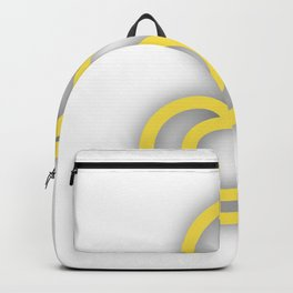 Letter S in Yellow Backpack