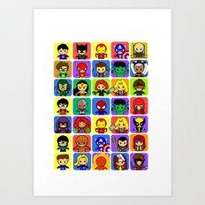 Hero Collection  Art Print