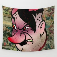 devil Wall Tapestries featuring Devil by Beery Method