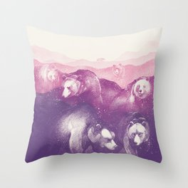 Wild Mountains Throw Pillow