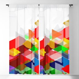 Colorful Abstract Art Blackout Curtain