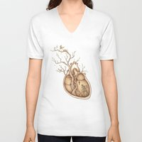 carpe V-neck T-shirts featuring Tree of Life by Enkel Dika