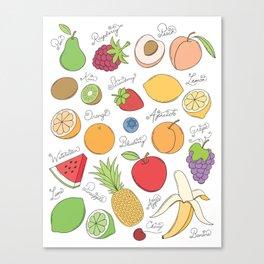 Fruit Doodles Canvas Print