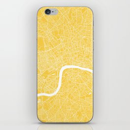 London map yellow iPhone Skin
