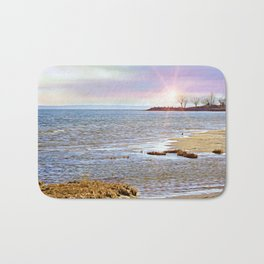 Sunset At The Beach - Tod's Point Bath Mat