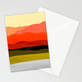 Mountains in Gradient Stationery Cards