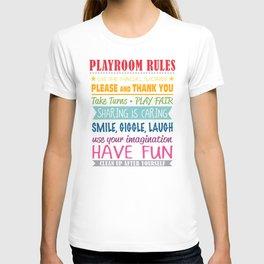 Playroom Rules T-shirt